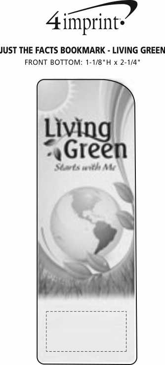 Imprint Area of Just the Facts Bookmark - Living Green