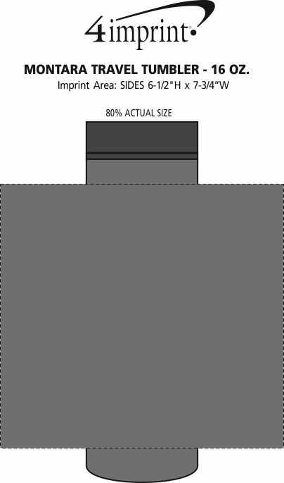 Imprint Area of Custom Montara Travel Tumbler - 16 oz.