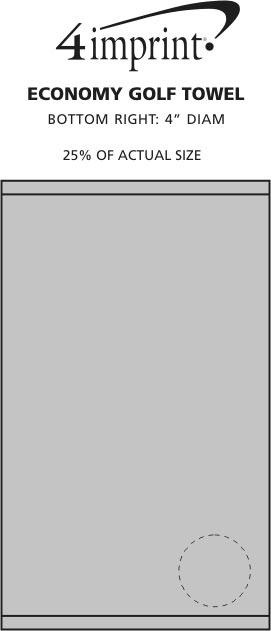 Imprint Area of Golf Towel