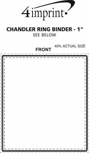 """Imprint Area of Chandler Ring Binder with Pockets - 1"""""""