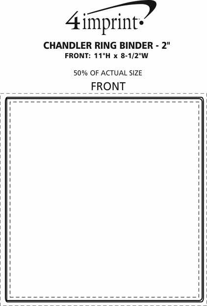 """Imprint Area of Chandler Ring Binder with Pockets - 2"""""""