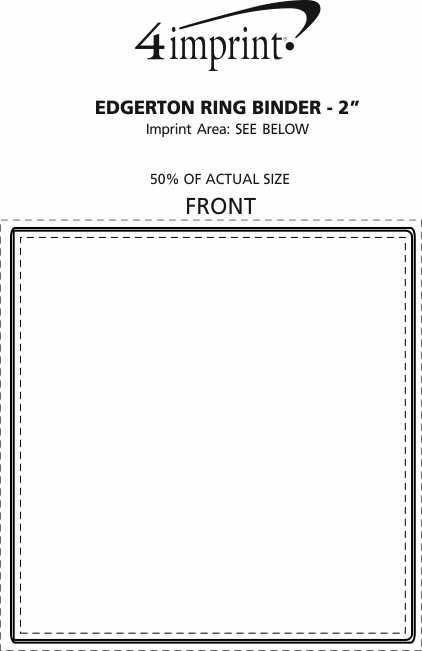 "Imprint Area of Edgerton Organizer Ring Binder - 2"""