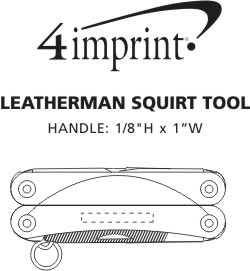 Imprint Area of Leatherman Squirt Tool