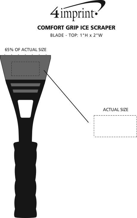 Imprint Area of Comfort Grip Ice Scraper