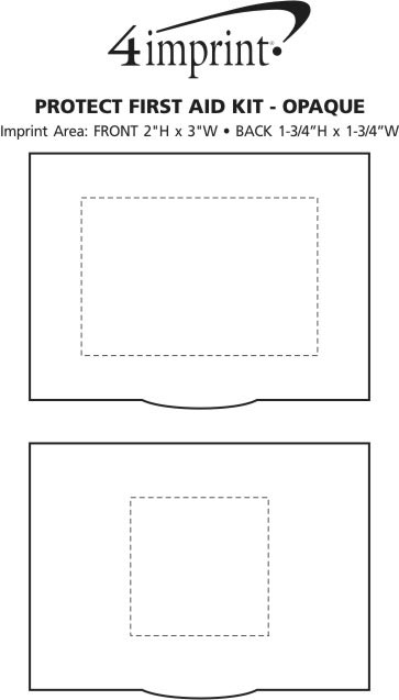 Imprint Area of Protect First Aid Kit - Opaque