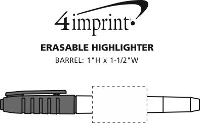 Imprint Area of Erasable Highlighter