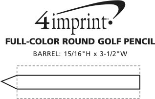 Imprint Area of Full Color Round Golf Pencil