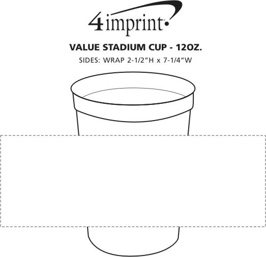 Imprint Area of Event Stadium Cup - 12 oz.