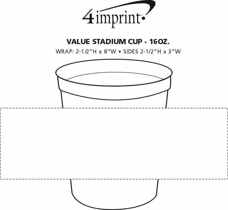 Imprint Area of Event Stadium Cup - 16 oz.