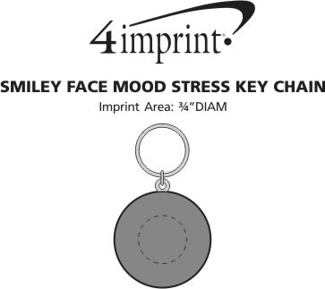 Imprint Area of Smiley Face Mood Stress Keychain