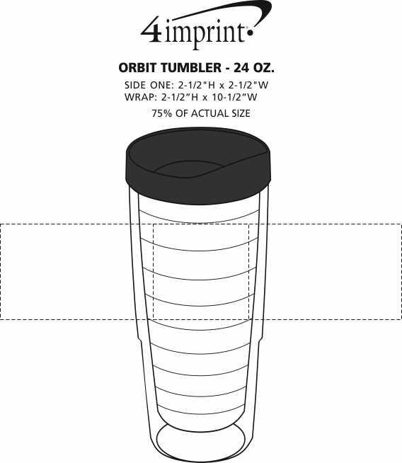 Imprint Area of Orbit Tumbler - 24 oz.