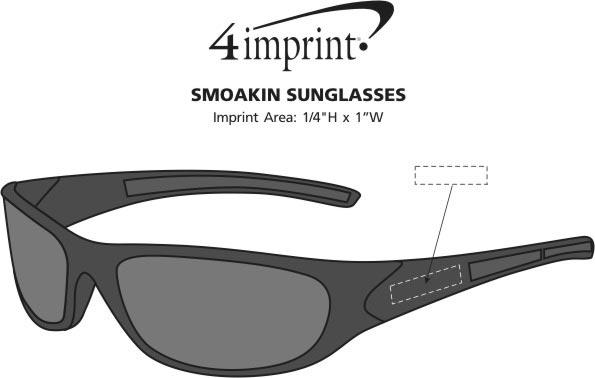 Imprint Area of SmOAKin Sunglasses
