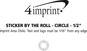 """Imprint Area of Sticker by the Roll - Oval - 1-1/2"""" x 2-1/2"""""""
