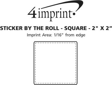 """Imprint Area of Sticker by the Roll - Square - 2"""" x 2"""""""