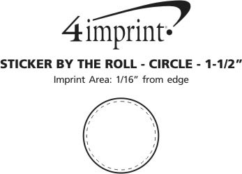 Imprint Area of Sticker by the Roll - Circle - 1-1/2""