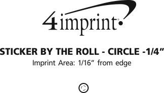 """Imprint Area of Sticker by the Roll - Circle - 1/4"""""""