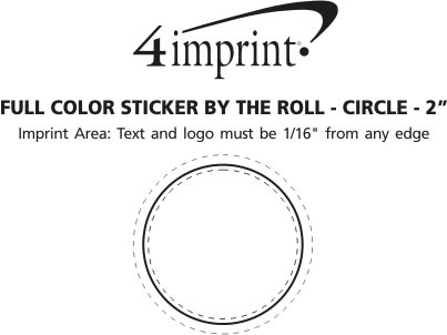 Imprint Area of Full Color Sticker by the Roll - Circle - 2""