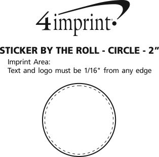 """Imprint Area of Sticker by the Roll - Circle - 2"""""""