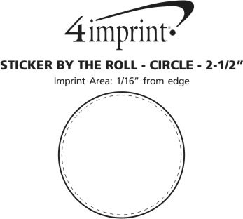 """Imprint Area of Sticker by the Roll - Circle - 2-1/2"""""""