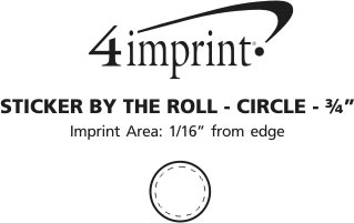 """Imprint Area of Sticker by the Roll - Circle - 3/4"""""""