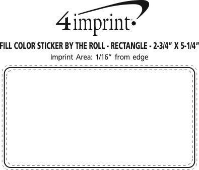 """Imprint Area of Full Color Sticker by the Roll - Rectangle - 2-3/4"""" x 5-1/4"""""""