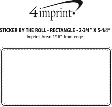 """Imprint Area of Sticker by the Roll - Rectangle - 2-3/4"""" x 5-1/4"""""""