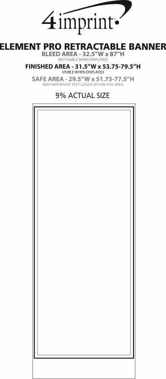 Imprint Area of Element Pro Retractable Banner Display
