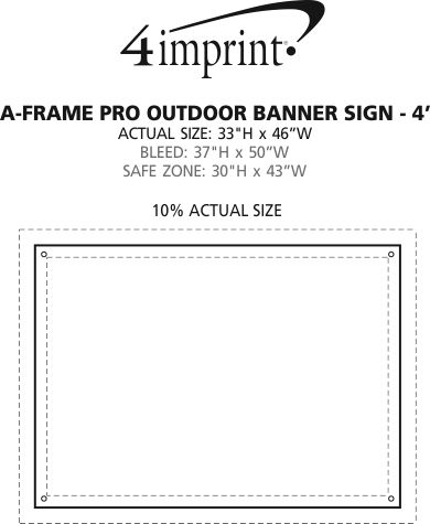 Imprint Area of A-Frame Pro Outdoor Banner Sign - 4'