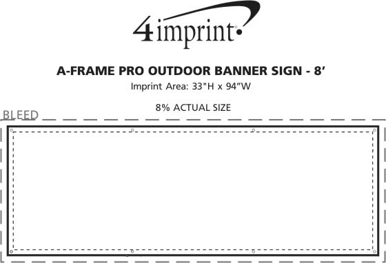 Imprint Area of A-Frame Pro Outdoor Banner Sign - 8'