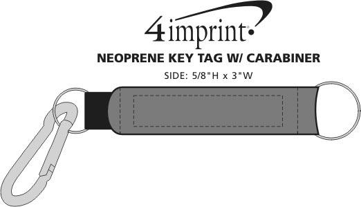 Imprint Area of Neoprene Keychain with Carabiner