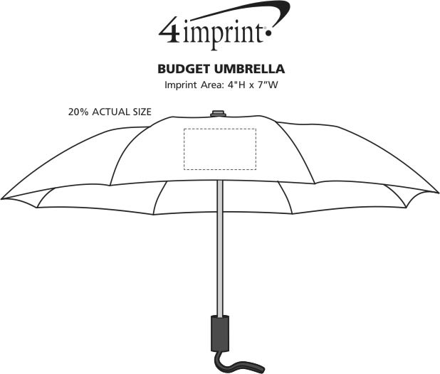 "Imprint Area of Mini Folding Umbrella - 42"" Arc"