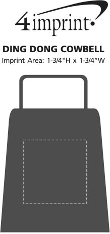 Imprint Area of Ding Dong Cowbell
