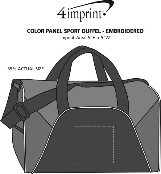 Imprint Area of Color Panel Sport Duffel - Embroidered