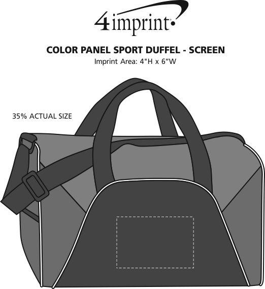 Imprint Area of Color Panel Sport Duffel - Screen