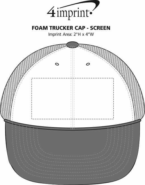 Imprint Area of Foam Trucker Cap - Transfer