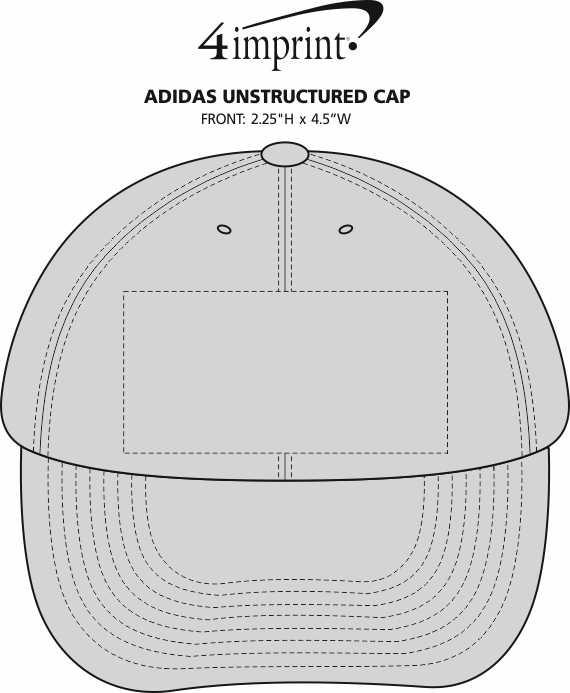 Imprint Area of adidas Unstructured Cap