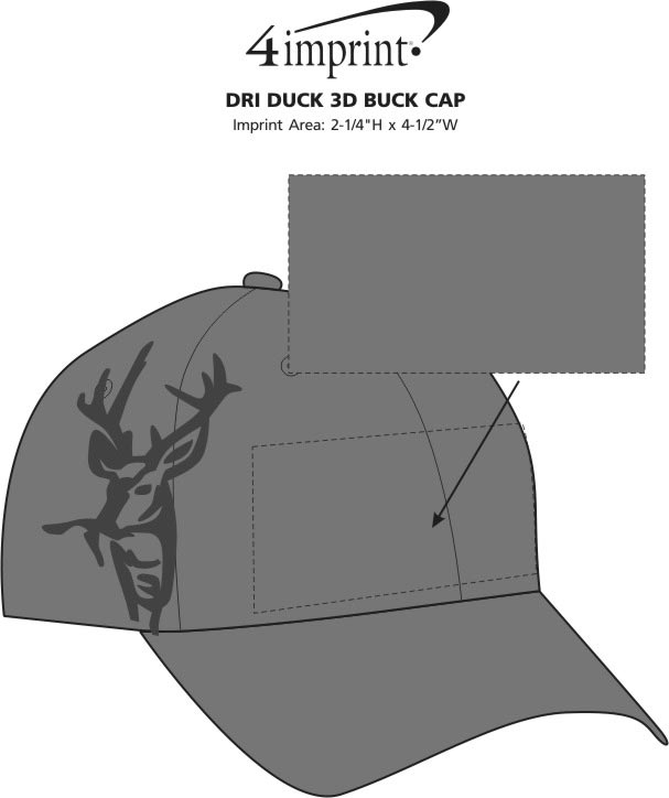 Imprint Area of DRI DUCK 3D Buck Cap