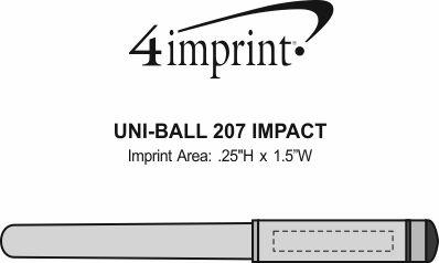 Imprint Area of uni-ball 207 Impact Pen