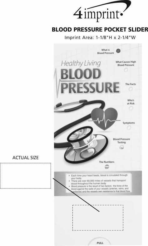 Imprint Area of Blood Pressure Pocket Slider