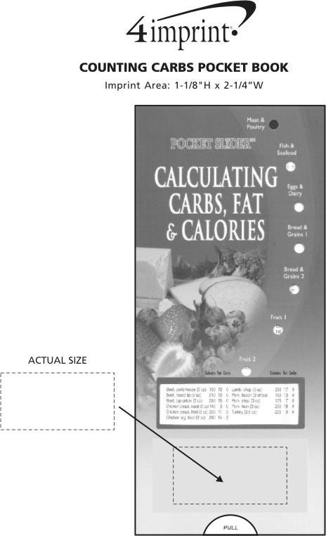 Imprint Area of Calculating Carbs, Fat & Calories Pocket Slider