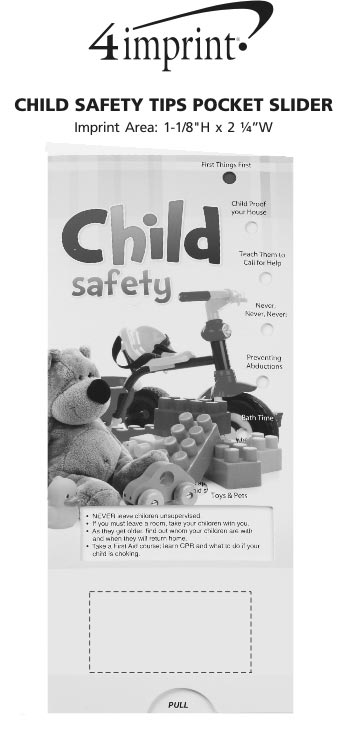 Imprint Area of Child Safety Tips Pocket Slider