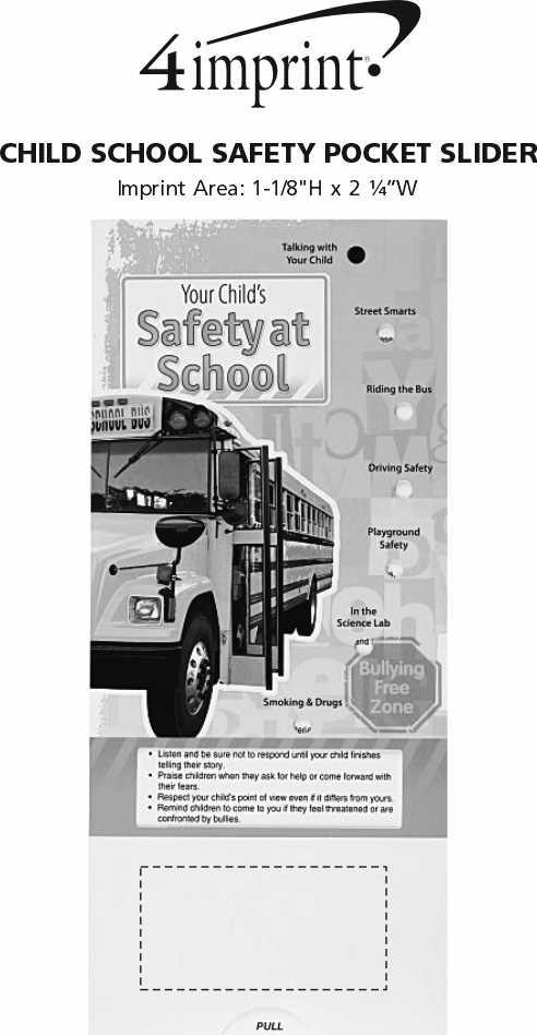 Imprint Area of Child School Safety Pocket Slider