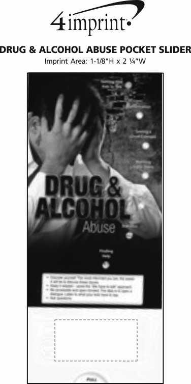 Imprint Area of Drug & Alcohol Abuse Pocket Slider