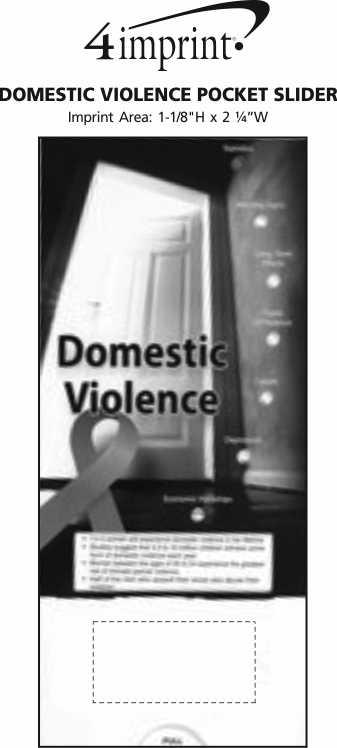 Imprint Area of Domestic Violence Pocket Slider
