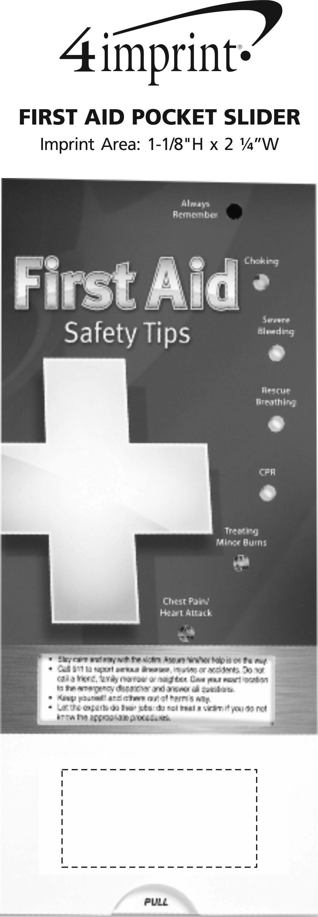Imprint Area of First Aid Pocket Slider