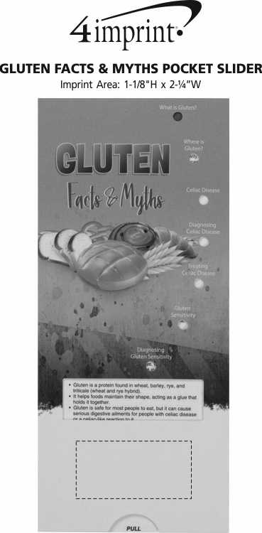 Imprint Area of Gluten Facts & Myths Pocket Slider