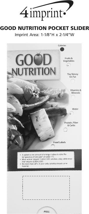 Imprint Area of Good Nutrition Pocket Slider