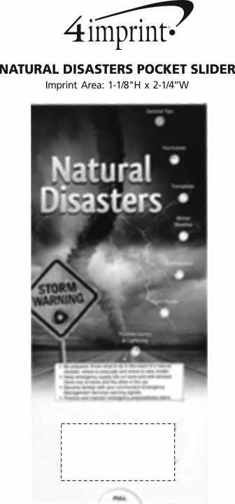 Imprint Area of Natural Disasters Pocket Slider