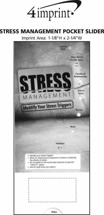 Imprint Area of Stress Management Pocket Slider