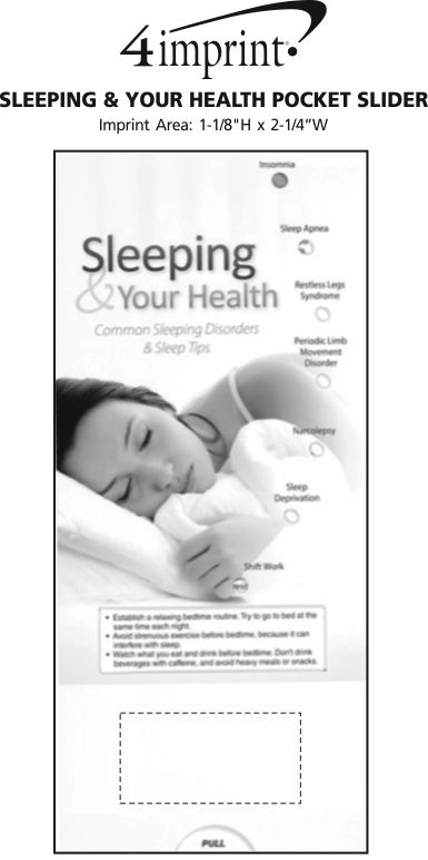 Imprint Area of Sleeping & Your Health Pocket Slider
